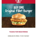 2-for-1 Original Fillet Burger or Zinger Burger Via Xpress @ KFC (TAS Only)
