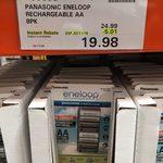 Panasonic Eneloop 8x AA - $19.98 @ Costco (Membership Required)