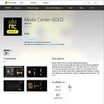 Free Windows 10 App: Media Center GOLD