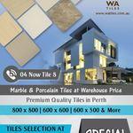 600*600 Tiles for $20 per m2 @ WA Tiles (Perth)