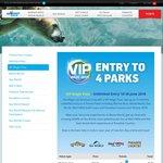 VIP Magic Pass – 4 Theme Parks, Unlimited Entry 'Til 30 June 2018 (15 Months) $99