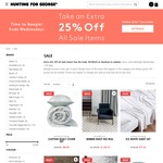 Additional 25% off All Sale Products @ Hunting for George