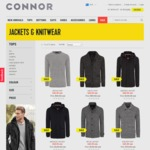 30% off Men's Jackets and Knitwear at Connor. Online Only