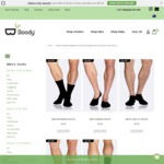 50% off All Men's Socks - from $4.47 Per Pair @ Boody