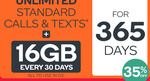 Kogan Mobile 365 Day Plans: Extra Large 16GB Data $339 ($28.25/Month) or Large 11GB $302 ($25.10/Month)