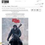 """Win a War for the Planet of the Apes Bundle incl an LG 55"""" 4K TV or 1 of 10 DVDs from STORM"""
