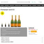 3x Veuve Clicquot Yellow Label Brut NV + 3x Lanson Black Label Brut NV ($35.20/Bottle) with Groupon Voucher @ Cellarmasters