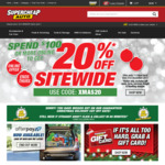 Spend $100 and Get 20% off Sitewide @ Supercheap Auto (Online Only)