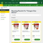 Haagen Dazs Ice Cream $7 (Was $11.50) @ Woolworths