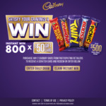 Win a Share of $71,500 Worth of VISA Prepaid Cards ($500 x 63 / $50 x 800) from Mondelez [Purchase Chocolate]