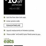 [VIC] $10 off First Uber Eats Order (Melbourne)