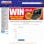 Win a ASUS ROG G703GI Gaming Notebook Worth $5,499 from Computer Alliance