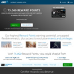ANZ Rewards Black Card 75000 Points, No Annual Fee for The First Year