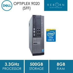 Refurbished] Dell Optiplex 9020 SFF, i5-4590 (3 3GHz), 8GB, 500GB