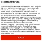 Free 3 Months Audible & Stan, 4 Months Apple Music for New Customers via Qantas App (Qantas Booking Required)