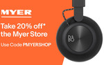 20% off @ Myer eBay ($500 Max Discount)