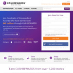 $15 Credit for Signing up & Making Qualifying $30+ Spend @ Cashrewards