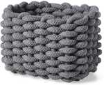 House & Home Small Rope Basket - Grey or White $1 @ BIG W (In-Store Only)