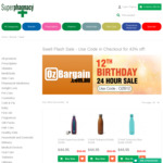 OzBargain12 Flash Sale - 41% off All Swell 500ml Bottle Varieties ($34.95) - Free Shipping over $50 @ Superpharmacy