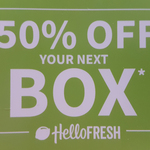 HelloFresh - 50% off Your Next Classic, Veggie or Family Box (Deactivated Accounts Only)