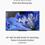 Sony OLED KD55A8F $1999, OLED KD65A8F $2999 @ Sony (Boxing Day Sale)