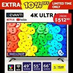 "10% off Devanti Smart TVs at checkout + extra 5% off after with PUSH5 - 49"" $486.49, 55"" $597.64, 65"" $862.69 @Ozplaza eBay"