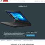 "ThinkPad E495 / 14"" FHD / AMD Ryzen 5 3500U / 256GB SSD / 8GB RAM / $755 Shipped @ Lenovo"