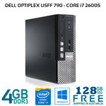 [Refurb] Dell Optiplex 790 Mini Core i7 2600s 4GB 128GB SSD DVD-RW Win10 $150.39 Delivered @ Bufferstock eBay