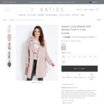Long Sleeve Soft Belted Trench Coat - $25 (Was $120) + Free Delivery @ Katies