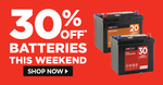 30% off Batteries & Penrite Coolants / Oils @ Repco