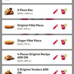 4 Pieces of Original Recipe for $6.95 @ KFC via The App