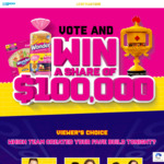Win $25,000 Cash or 1 of 15 $5,000 Cash Prizes from Quality Bakers Australia