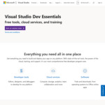 Free Visual Studio Dev Essentials Software and Learning Resources @ Microsoft