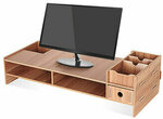 Wooden Computer Screen Desktop/Laptop Stand USD $17.99 (~AUD $28.46) Delivered @ Banggood AU
