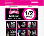 3 Day 1/2 Price Makeup Including NYX (Some Brand Exclusions) and Selected Masks and Wipes Sale @ Priceline