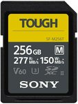 Sony UHS-II Tough-M V60 256GB SD Card $190 (RRP $429) + Delivery ($0 with Prime) @ Amazon US via AU