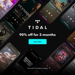 TIDAL HiFi / Premium Music Streaming - 90 Days for $4 (New Users)