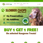 Buy 1 Get 1 Free Selected Kangaroo Treats For Dogs - 2 x 500g for $29.95 + $10 Shipping @ Slobber Chops Dog Treats