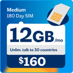 Lebara Medium 180 Day SIM | 90GB | $99 (Was $160) | Unltd Intl Call to 30 Countries, Text to 60 Countries