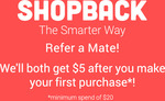 eBay: $2 Bonus ($2 Spend) or $5 Bonus ($20 Spend) Plus 10% Cashback (Uncapped, Unlimited Txns, Exclude Coupons) @ ShopBack