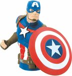 Captain America Bust Bank $10.34 + Delivery ($0 with Prime) @ Amazon AU