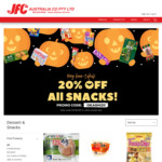 [VIC] 20% off all Snacks | $18 Delivery > $50, $9 Delivery > $80 or Free > $150 @ JFC Online