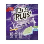 Coles Ultra Plus Advanced Clean Lemon Fresh Dishwasher Tablets 30 Pack 2 for $9.50 (Save $2.50) @ Coles