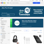 [eBay Plus] Ausdom M09, Charging Cables, Golf G80 Power Bank, AWEI TWS Earbuds $1 Each @ eBay