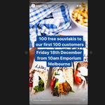 [VIC] 100 Free Souvlakis, Friday (18/12) from 10am @ Hella Good (Emporium, Melbourne)