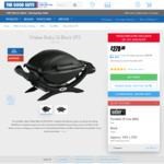Weber Baby Q Titanium/Black LPG BBQ $279 + Delivery or Free Pickup @ The Good Guys