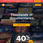 Documentaries HD Streaming 1-Year Plan US$11.79 (~A$15.50, 41% off) @ CuriosityStream + Free Access to Nebula (Save US$50)