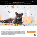 14% off on All Pet Care Collections + Free Delivery with $50 Spend @ Rufus & Coco