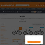 50% or More off RRP Fluid Bikes + Delivery ($0 C&C) @ Anaconda