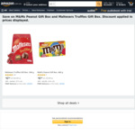 Maltesers Truffles 196g/M&M's Peanut Gift Box 460g $6 + Delivery ($0 with Prime/ $39 Spend) @ Amazon AU